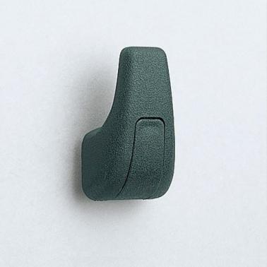 プラスチックフック シングル WB-901145 樹脂 ブラック/グレー