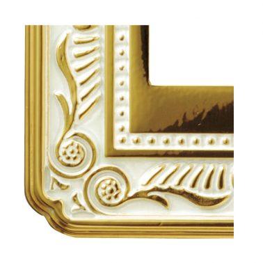 フィレンツェ(ゴールド ホワイト パティナ) スイッチプレート・コンセントカバー(スイッチカバー、コンセントプレート)