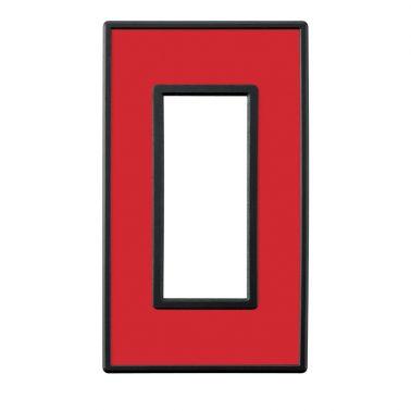 フレックス ブラック パネル(クリアーレッド) スイッチプレート・コンセントカバー(スイッチカバー、コンセントプレート)