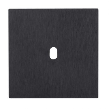 5.1シリーズ シングルスイッチプレート部品(ブラックアルマイト処理)