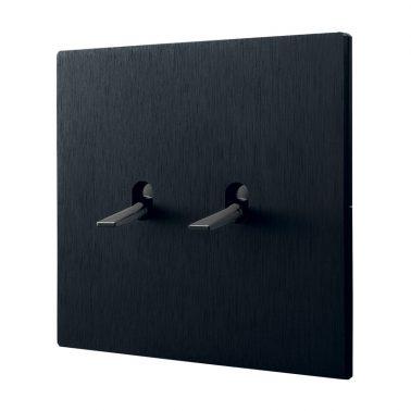 ダブルトグルスイッチセット 5.1シリーズ(ブラックアルマイト処理) トグルプレートセット