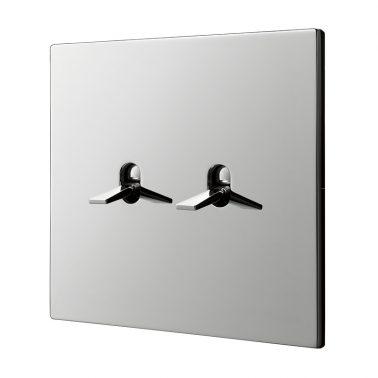 ダブルトグルスイッチセット 5.1シリーズ(クロムめっき) トグルプレートセット