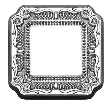 スイッチプレート部品:フィレンツェ(ブライト クローム) デザインスイッチプレート(スイッチカバー)