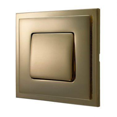 シングルパネルスイッチセット マドリッド(ブライトゴールド) デザインスイッチプレートセット(スイッチカバーセット)