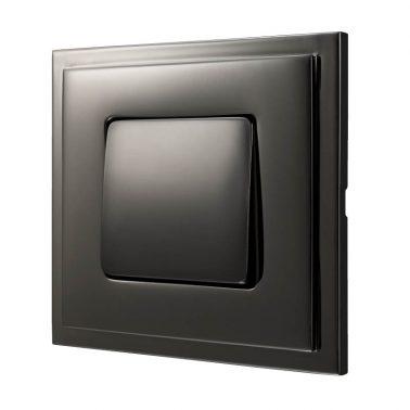 シングルパネルスイッチセット マドリッド(グラファイト) デザインスイッチプレートセット(スイッチカバーセット)