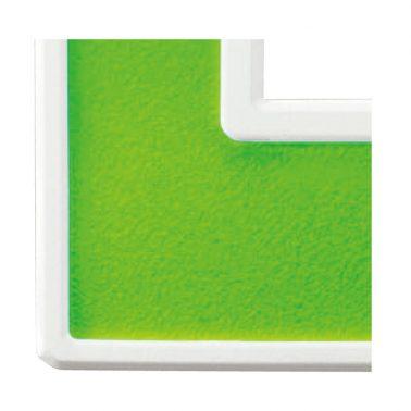 フレックス ホワイト パネル(アクセントグリーン) スイッチプレート・コンセントカバー(スイッチカバー、コンセントプレート)