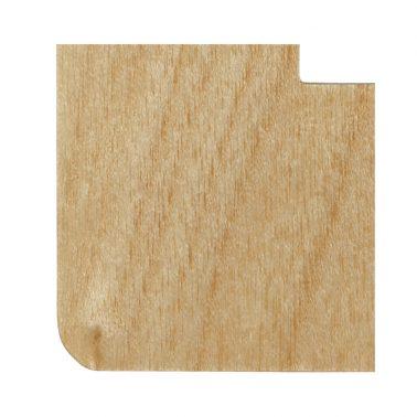 プレミアムウッド RD(天然木(メジロカバ)/クリアー塗装) ワイドスイッチプレート(スイッチカバー)