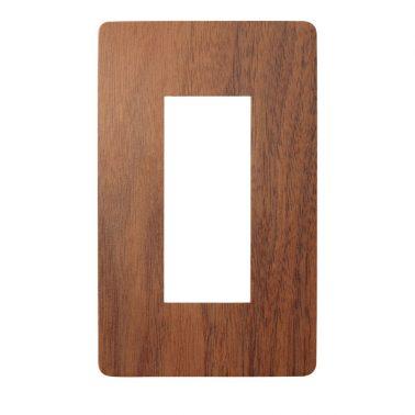 プレミアムウッド RD(天然木(ウォールナット)/クリアー塗装) スイッチプレート・コンセントカバー(スイッチカバー、コンセントプレート)