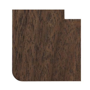 プレミアムウッド RD(天然木(ウォールナット)/クリアー塗装) ワイドコンセントカバー(コンセントプレート)