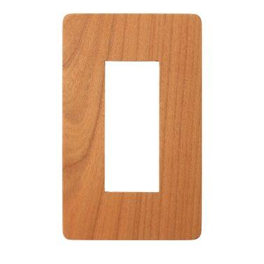 プレミアムウッド RD(天然木(ヤマザクラ)/クリアー塗装) スイッチプレート・コンセントカバー(スイッチカバー、コンセントプレート)