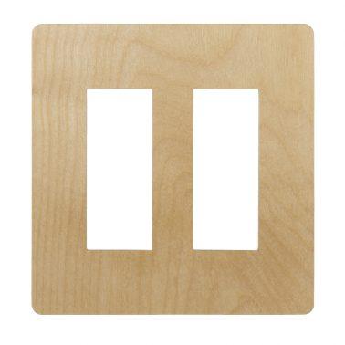 プレミアムウッド RD(天然木(メジロカバ)/クリアー塗装) 2連スイッチプレート・コンセントカバー(スイッチカバー、コンセントプレート)