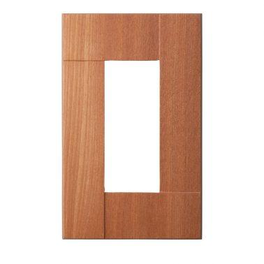プレミアムウッド SQ(天然木(アサダ)/クリアー塗装) スイッチプレート・コンセントカバー(スイッチカバー、コンセントプレート)