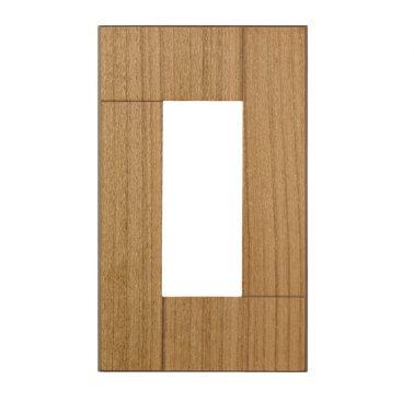 プレミアムウッド SQ(天然木(ヤマザクラ)/クリアー塗装) ワイドコンセントカバー(コンセントプレート)