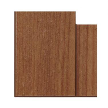 プレミアムウッド SQ(天然木(アサダ)/クリアー塗装) 2連スイッチプレート・コンセントカバー(スイッチカバー、コンセントプレート)