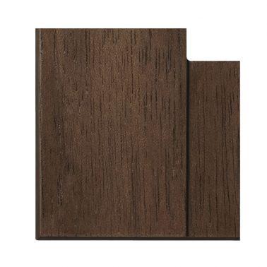 プレミアムウッド SQ(天然木(ウォールナット)/クリアー塗装) 2連スイッチプレート・コンセントカバー(スイッチカバー、コンセントプレート)