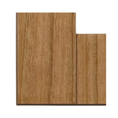 プレミアムウッド SQ(天然木(ヤマザクラ)/クリアー塗装) 2連スイッチプレート・コンセントカバー(スイッチカバー、コンセントプレート)