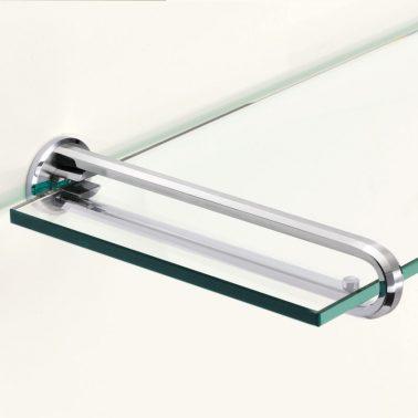 ステンレス鋼製ガラス棚受 ZL-2201
